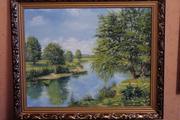 картина пейзаж летним днём для подарка