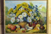 Продам картину -натюрморт с ромашкамидары лета