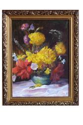 Картина букет с золотыми шарами
