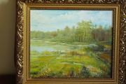 Картина летний пейзаж на опушке леса